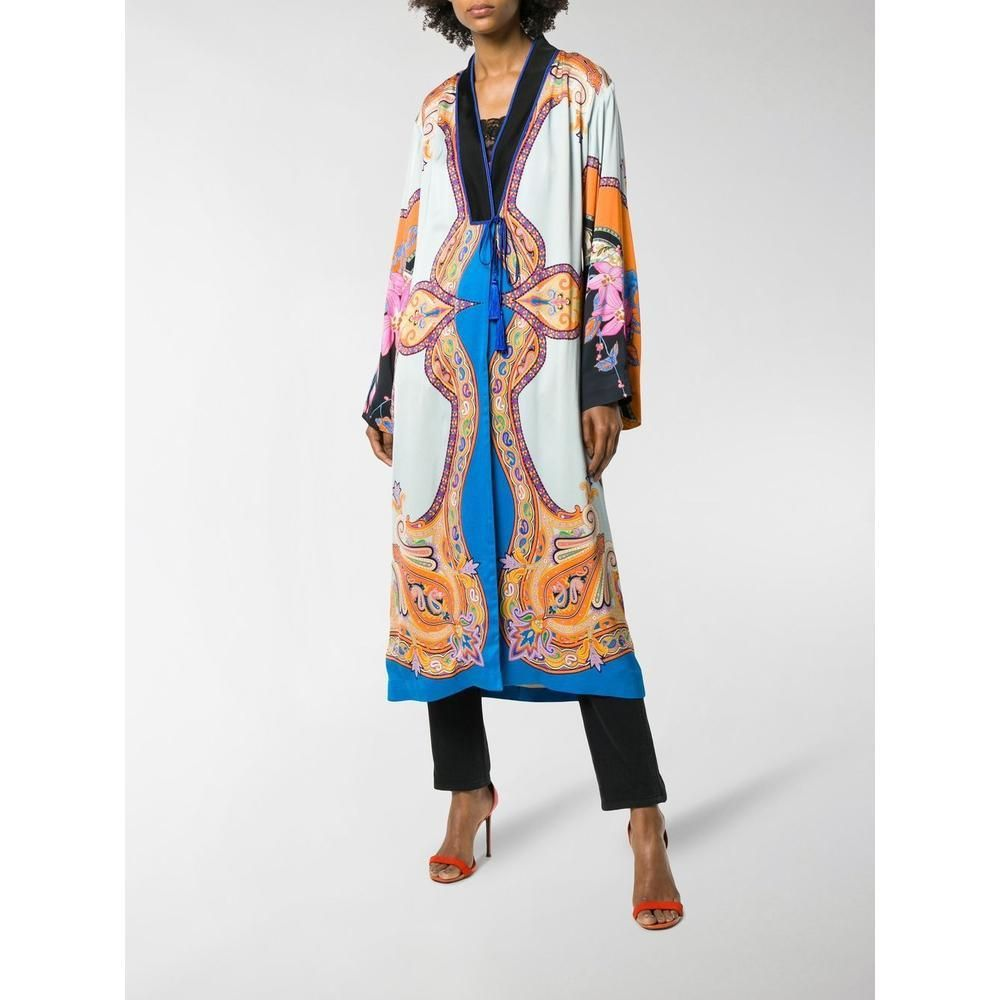 best value b03c8 12f8c Etro Cappotto Silk Robe in 2019   Etro   Floral prints ...