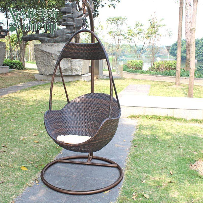 Hot sale rattan chair hanging basket rattan outdoor