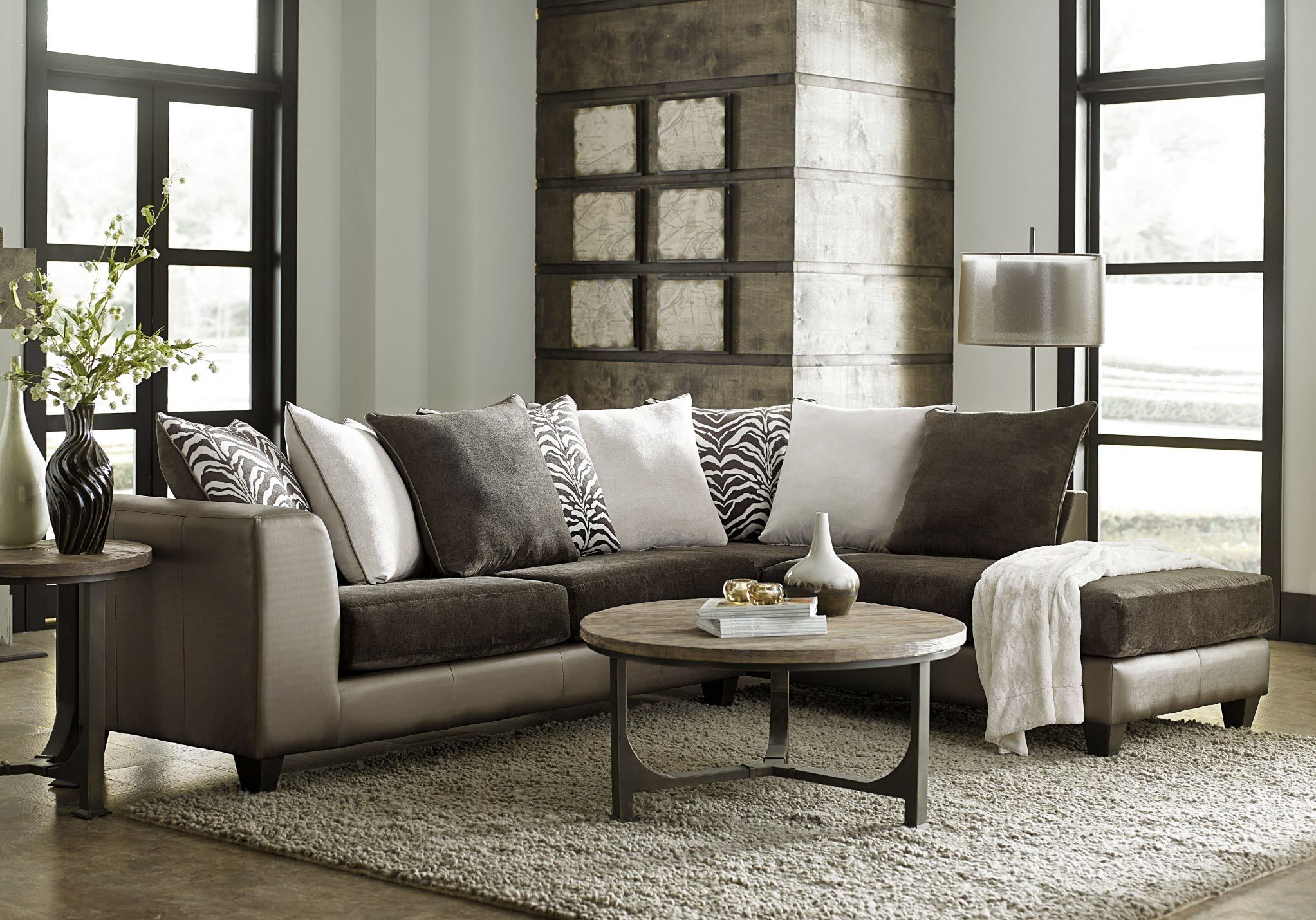 The Shimmer Asia Zanzabar two piece sectional is a stunning
