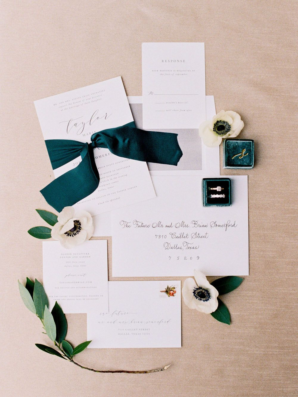 Here S What Happens When You Break Traditions And Have An Ultra Chic Wedding Ruffled Wedding Invitation Paper Dallas Wedding Planner Shine Wedding Invitations