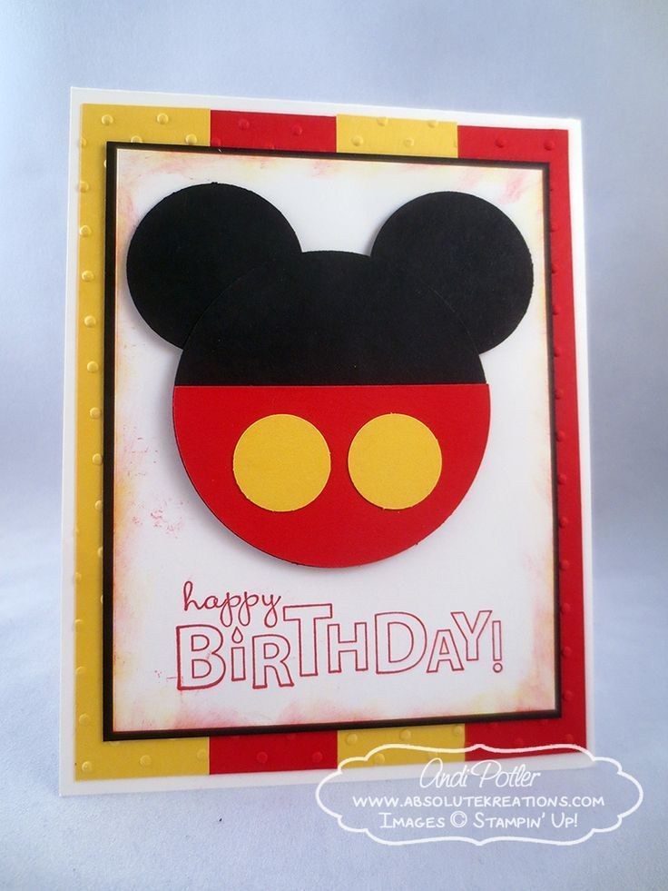 Stampin up mickey birthday card by andi p handmade cards stampin up mickey birthday card by andi p bookmarktalkfo Images
