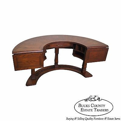 Romweber Semi Circle Viking Oak Hunt Desk Semi Circle Oak Step