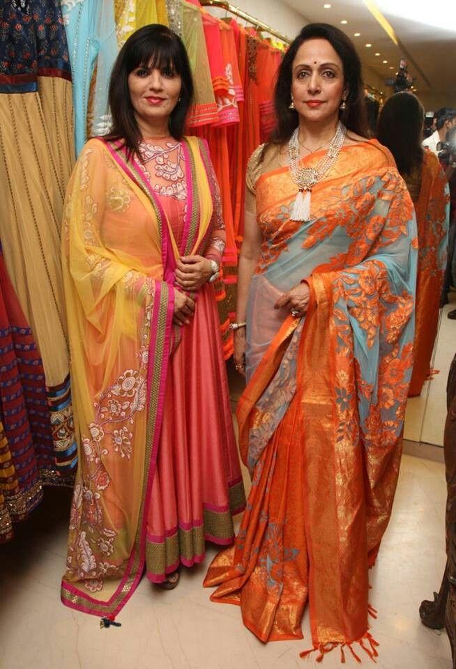 eb1310ee552 Hemamalini in neeta lulla s designer silk saree