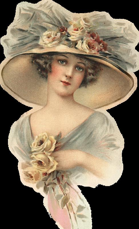 Знакомство, старинные открытки дамы