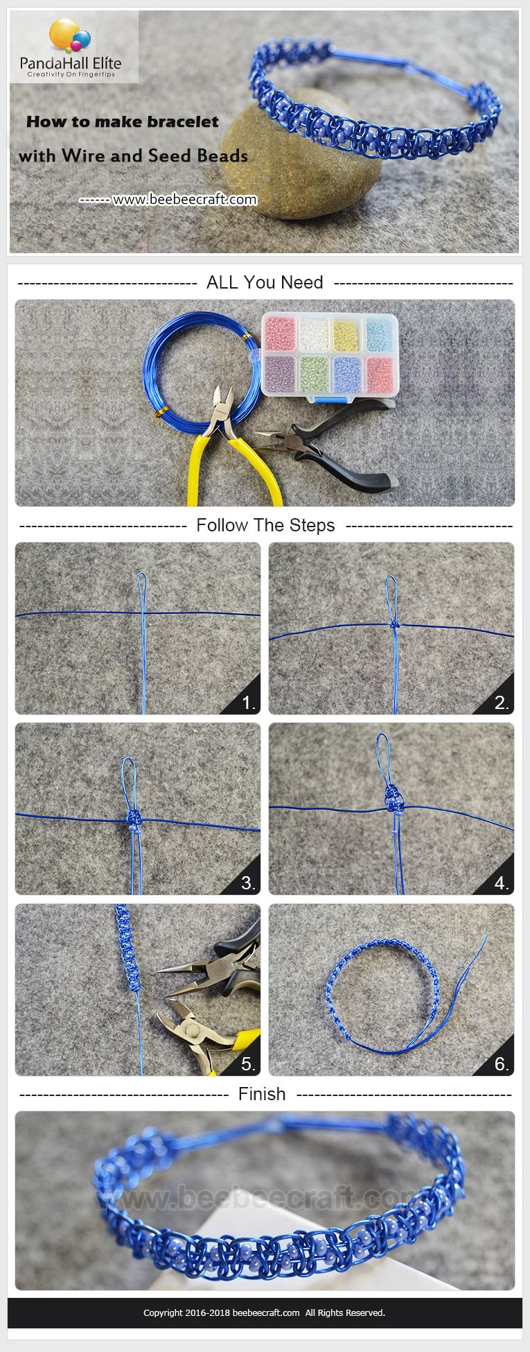 How to make bracelet with beebeecraft wire and seedbeads wire