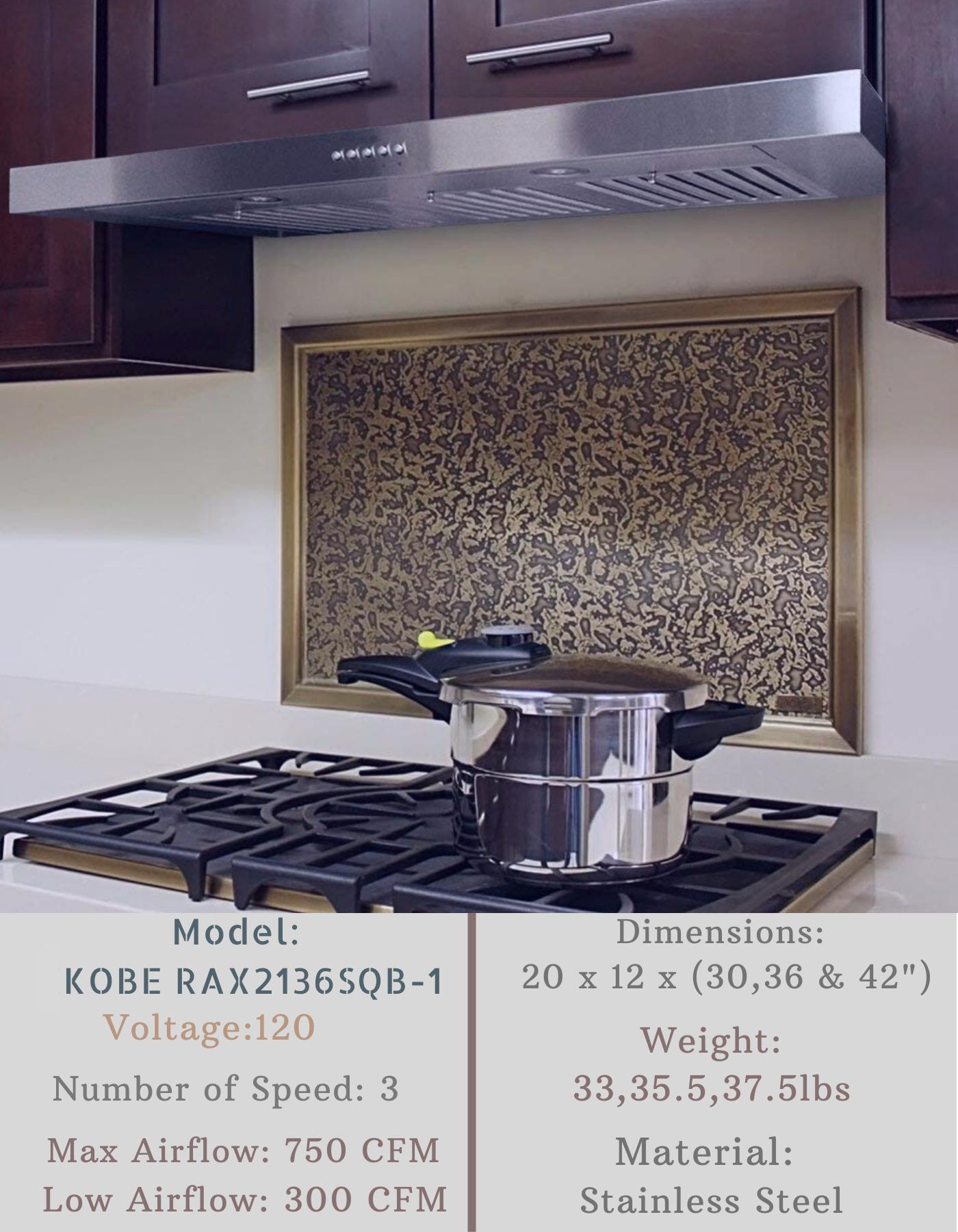 Kobe Rax2136sqb 1 Brillia Range Hood Range Hood Ductless Range Hood Medium Kitchen