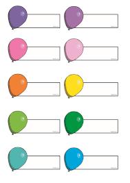 جاهزة للكتابة عليها بطاقات لكتابة اسماء الاطفال عليها جاهزة للطباعة Push Pin Supplies Save
