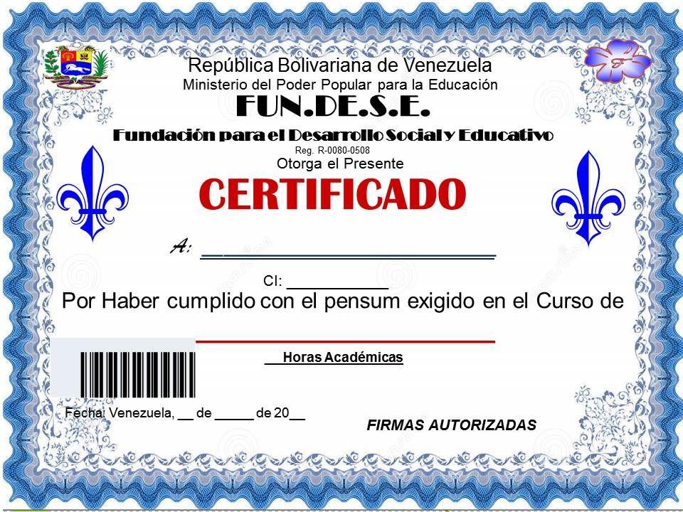 Resultado de imagen para modelos de certificados de venezuela Top