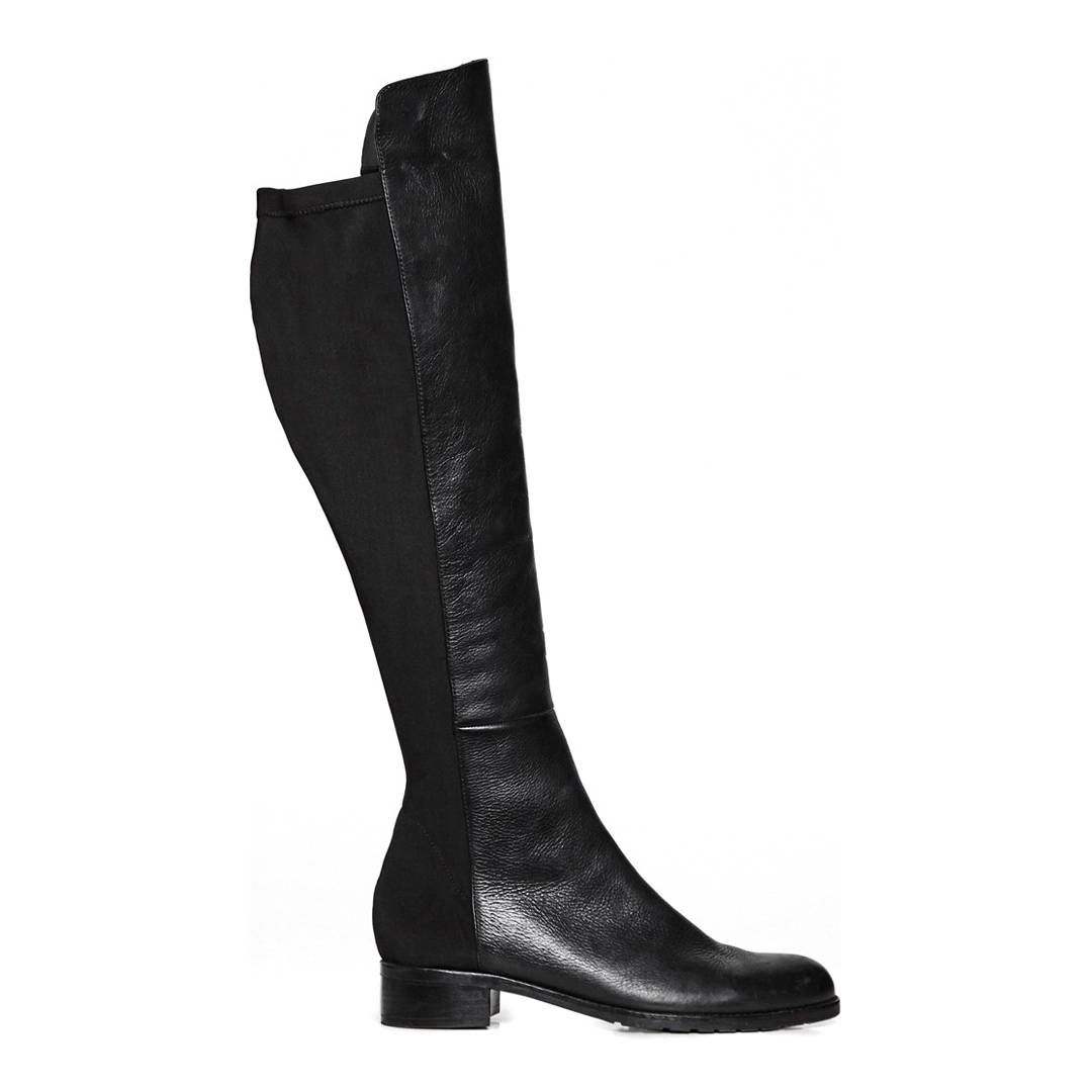 47c41ff3711a Black Leather Knees Up Boots - Great Plains - Private sales ...