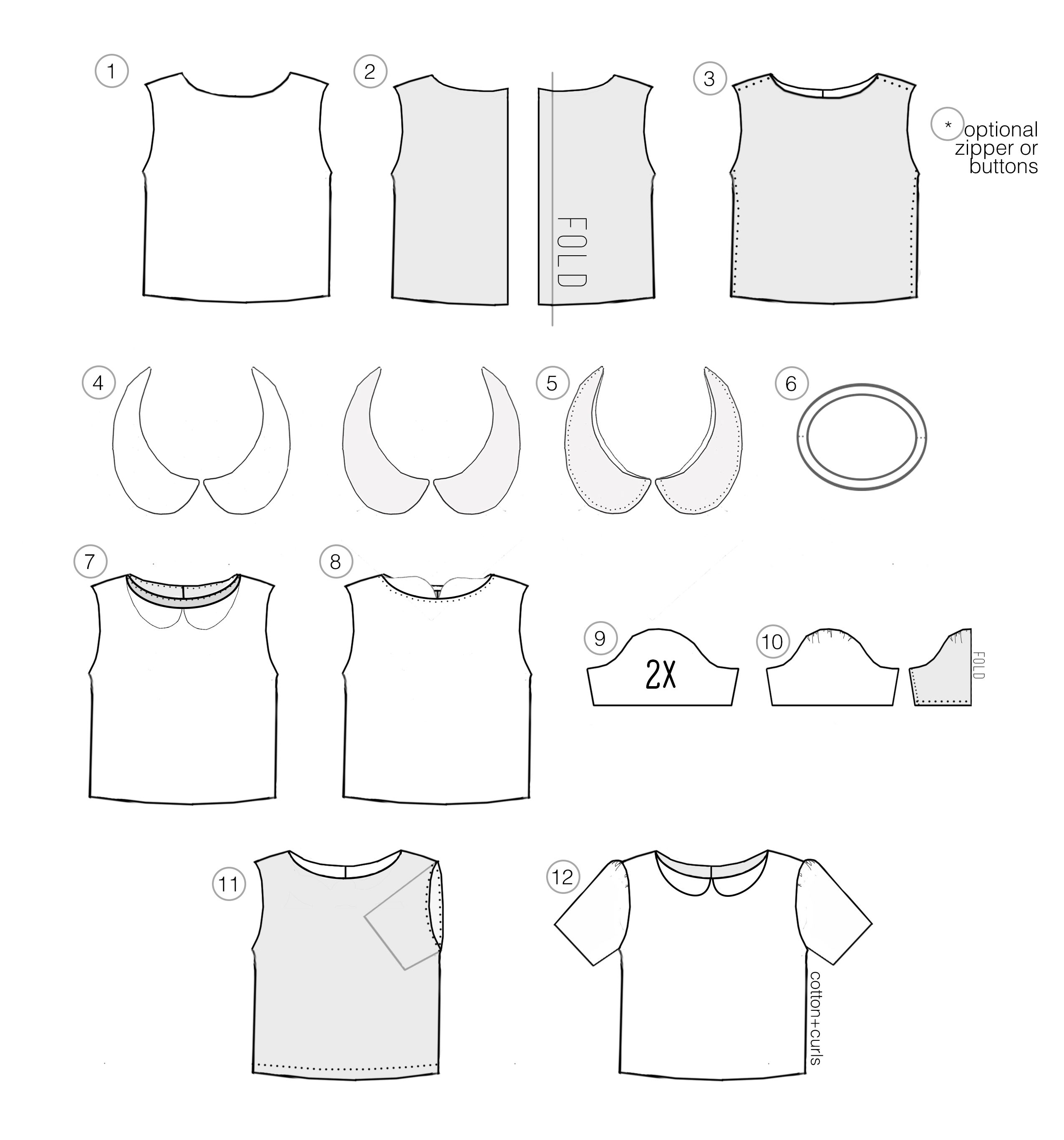 peter pan collar boxy shirt | sewing tops | Pinterest | Nähen