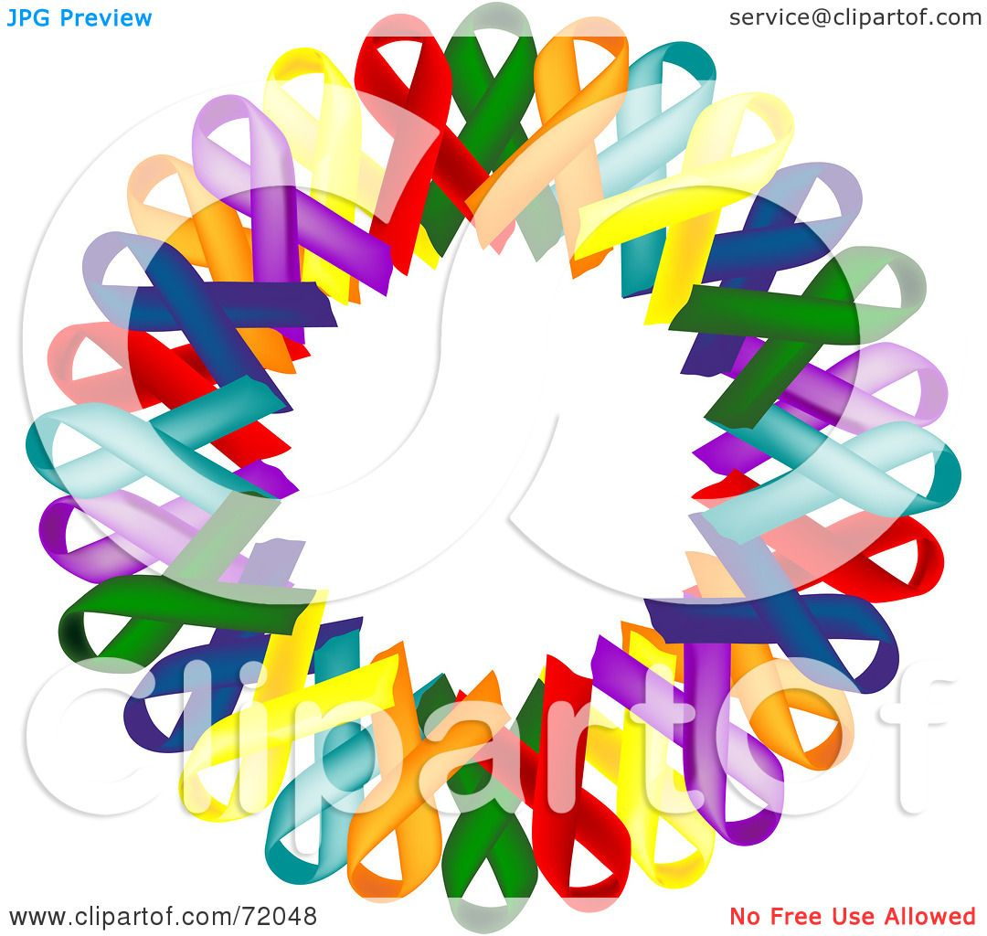 Royalty Free Rf Clipart Illustration Of A Colorful Awareness