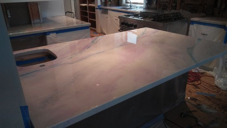 Metallic Epoxy Countertop Kit Faux Marble Countertop Marble
