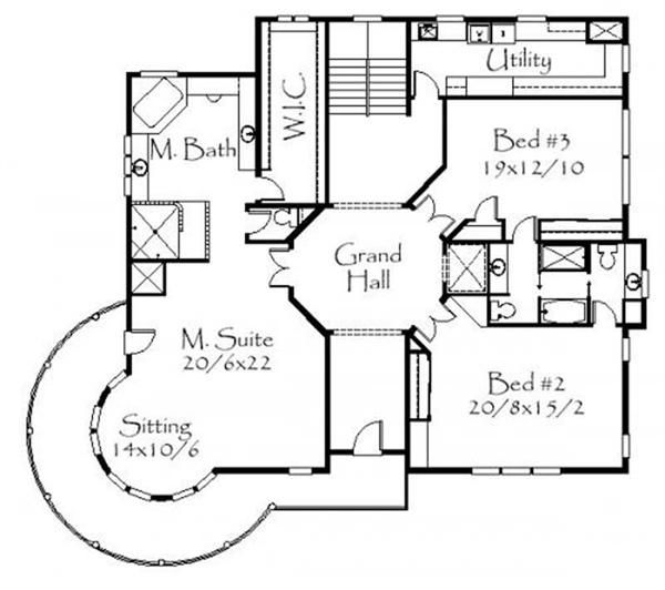 Country Victorian House Plan 3 Bedrms 2 5 Baths 5293 Sq Ft 153 1577 Victorian House Plans House Plans Country House Plans
