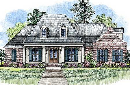 Plan 56378sm 3 bed acadian with bonus over garage for Acadian house plans with bonus room