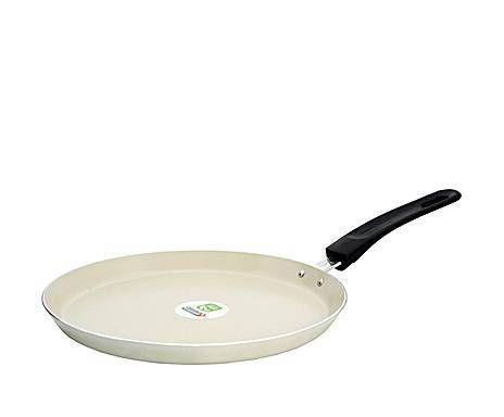 La cocina del chef: sartén crepera de cerámica, blanca ...