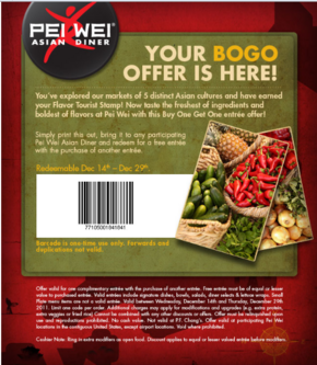 Free Pei Wei Coupons- A $25 gift card purchase includes a coupon ...