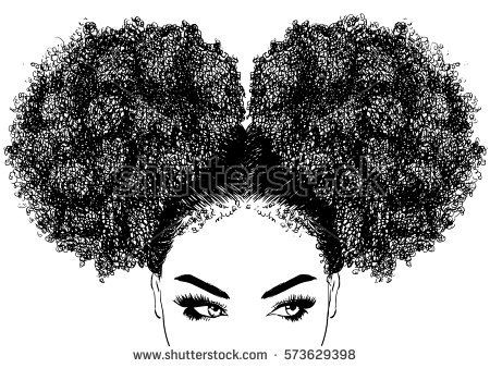 Black Woman With Curly Hair Buy This Vector On Shutterstock
