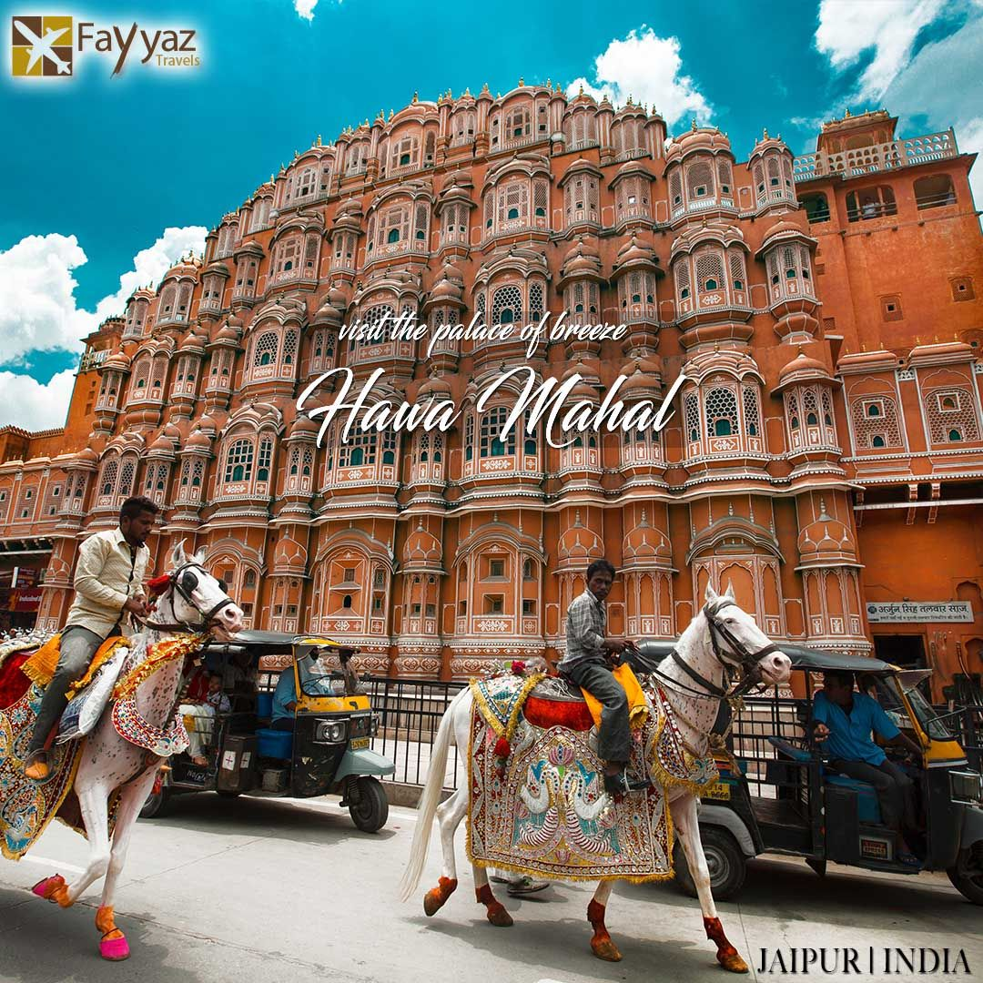 Hawa Mahal is a palace in Jaipur, India. It was so named because it was essentially a high screen wall built so the women of the royal household could observe street festivals while unseen from the outside. Constructed of red and pink sandstone, the palace sits on the edge of the City Palace, and extends to the zenana, or women's chambers.The structure was built in 1799 by Maharaja Sawai Pratap Singh.