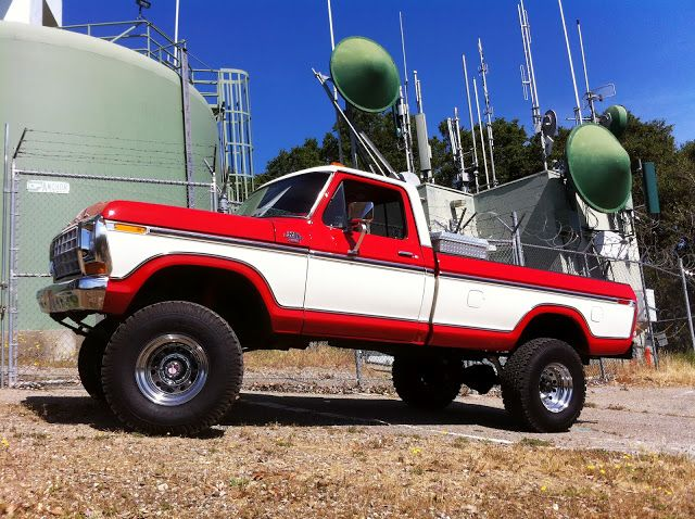 Red/White 78/79 Ford | Ford trucks | 79 ford truck, Ford ...