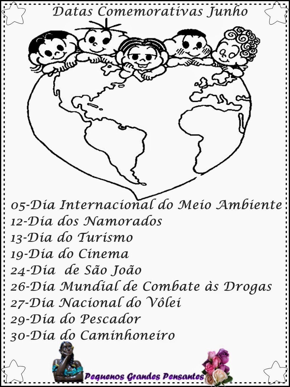 Datas Comemorativas De Junho Com Imagens Datas Comemorativas