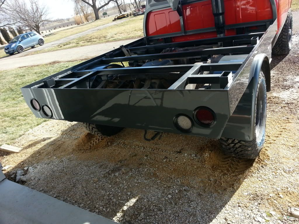 Plans for flatbed ford f350 - Custom Flatbed Under Structure Example