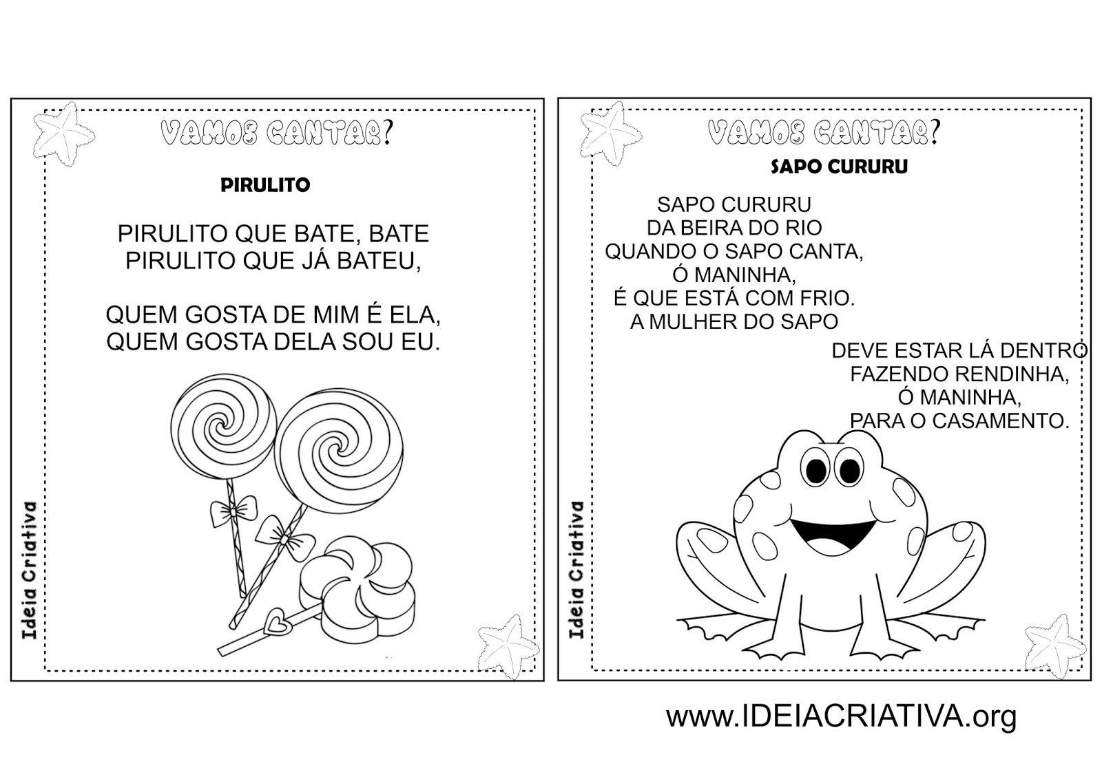 Excepcional Álbum Ilustrado Cantigas de Roda Folclore | Educação Infantil  JC46