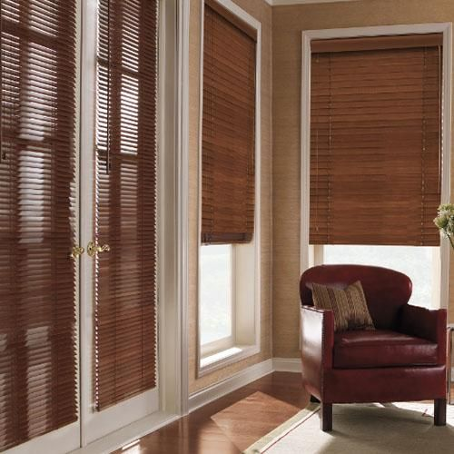 """Levolor 2"""" Premium Wood Blinds in Auburn. Custom create the perfect wood blinds for your home from our selection of slat styles, finishes and colors - all available at Blinds.com."""