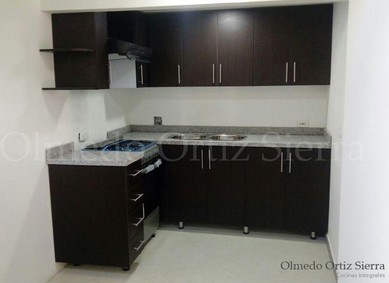 Cocina integral chica dise ada para optimizar espacios for Cocinas integrales para apartamentos