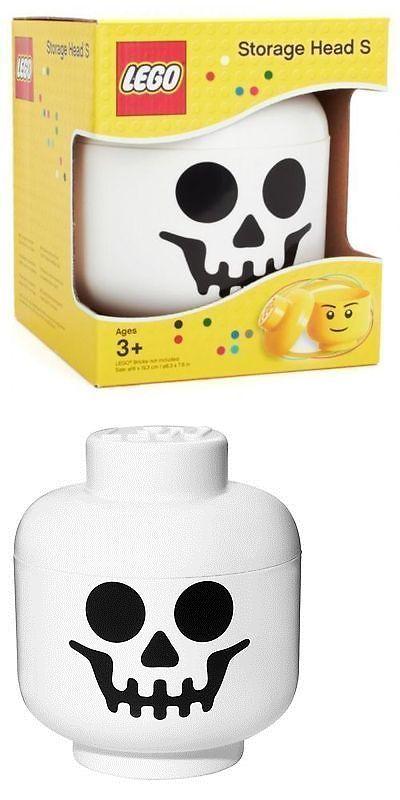 LEGO Branded Storage 183450: Lego Brick Storage Head Container Skeleton Carry  Case Bin Toy Box