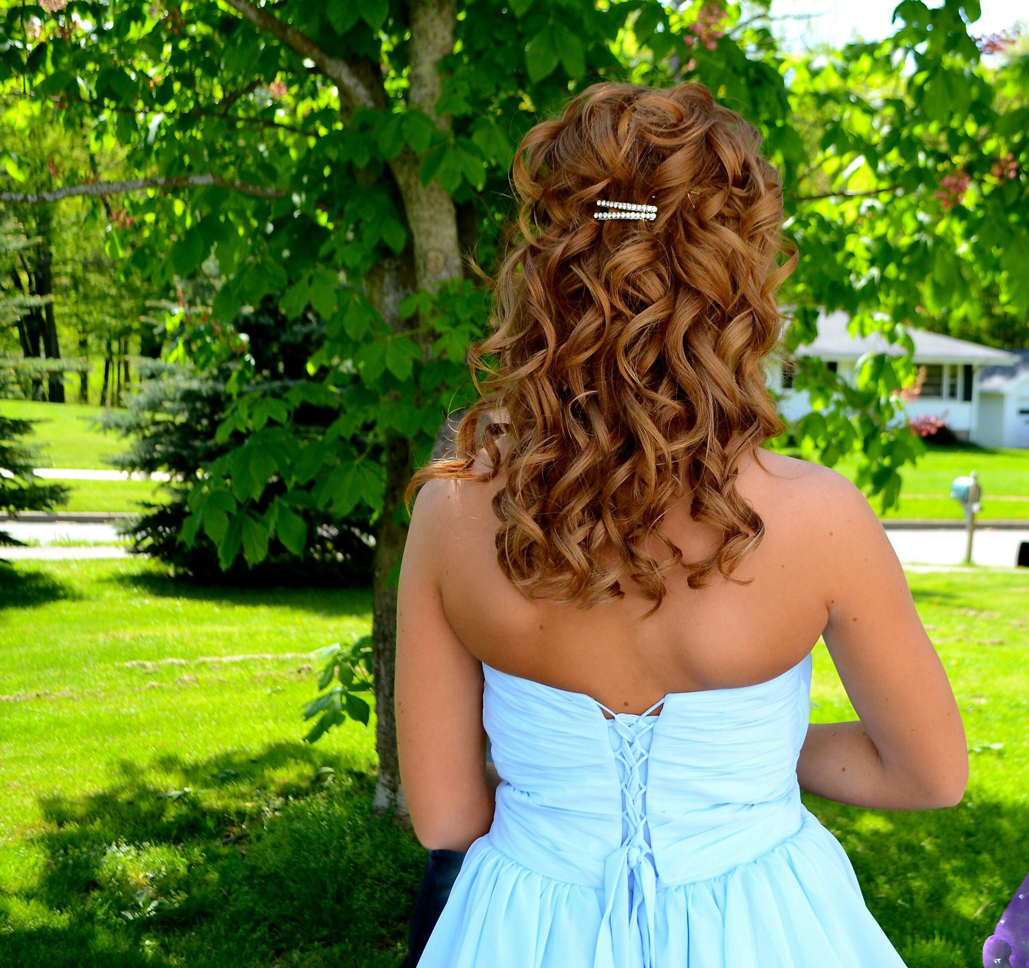 prom hairstyle! #redhead #prom | hair ideas | prom hair
