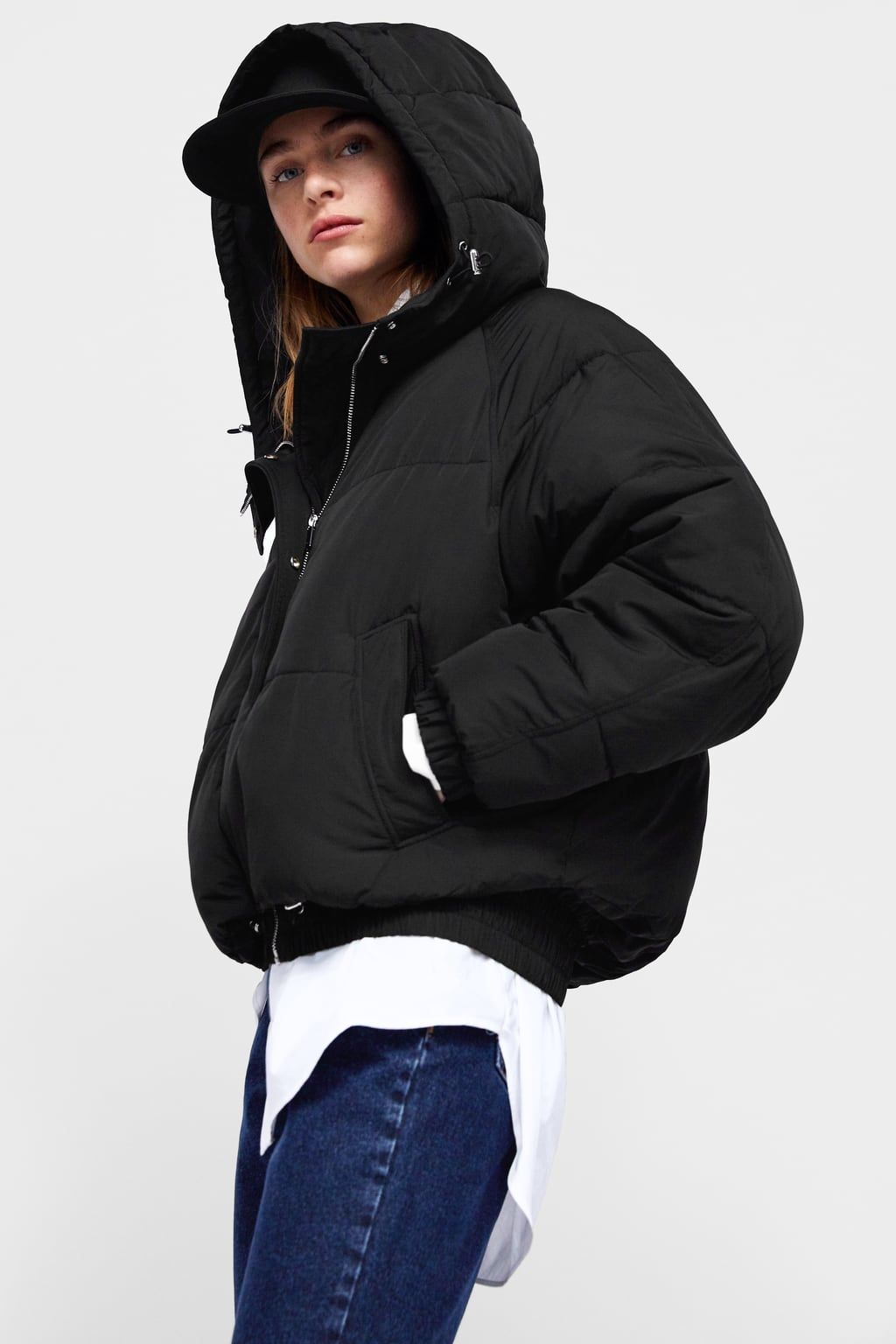Image 6 Of Hooded Puffer Jacket From Zara Black Puffer Jacket Jackets Thrifted Outfits [ 1536 x 1024 Pixel ]