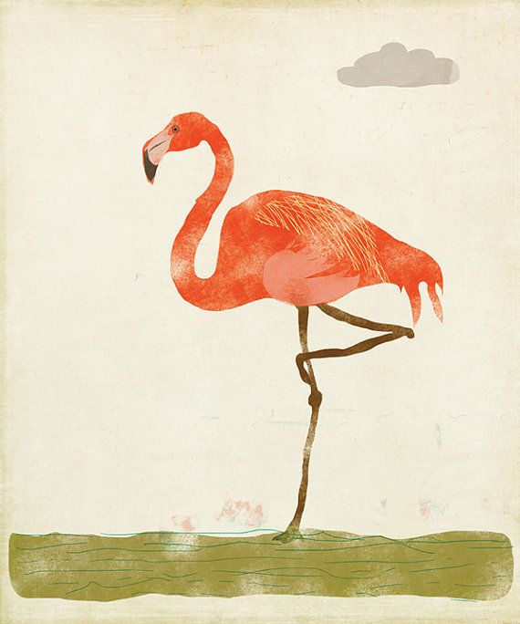 Flamingo Print Amy Sullivan Flamingo Art Flamingo