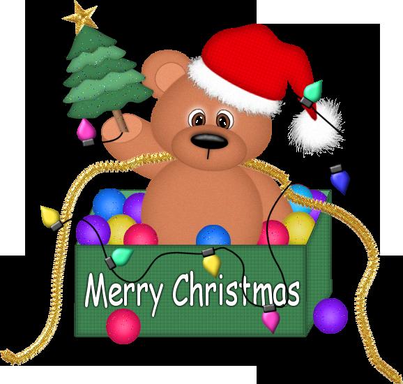 Christmas Bear With Lights Png Clipart Urso Natal