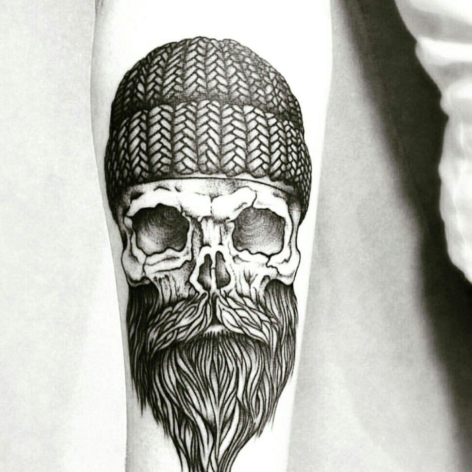 #tattoo#beard #hipster#skull