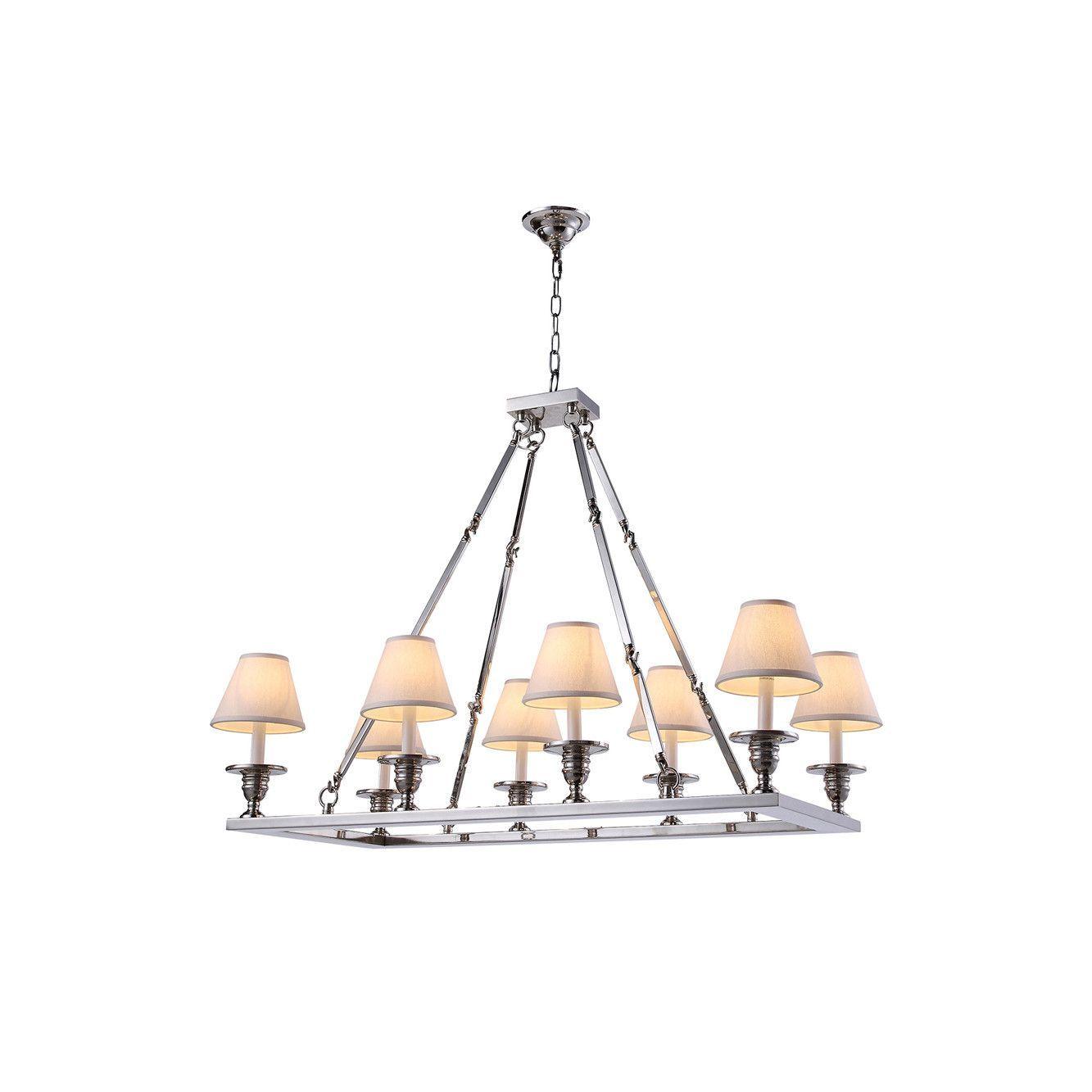 "Elegant Lighting 1403G38PN Franklin Collection Pendant Lamp L:38"""" W:19"""" H:33"""" Polished Nickel Finish"