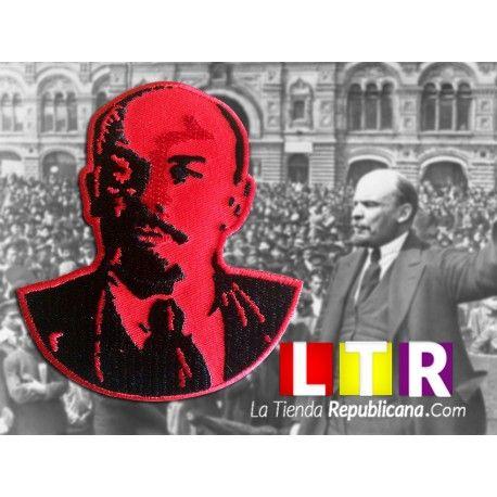 Parche Comunista - Busto de Lenin.  Parche bordando termo adhesivo. Dimensiones 8,50 cm de Ancho x 10 de Alto. Peso 2gm.