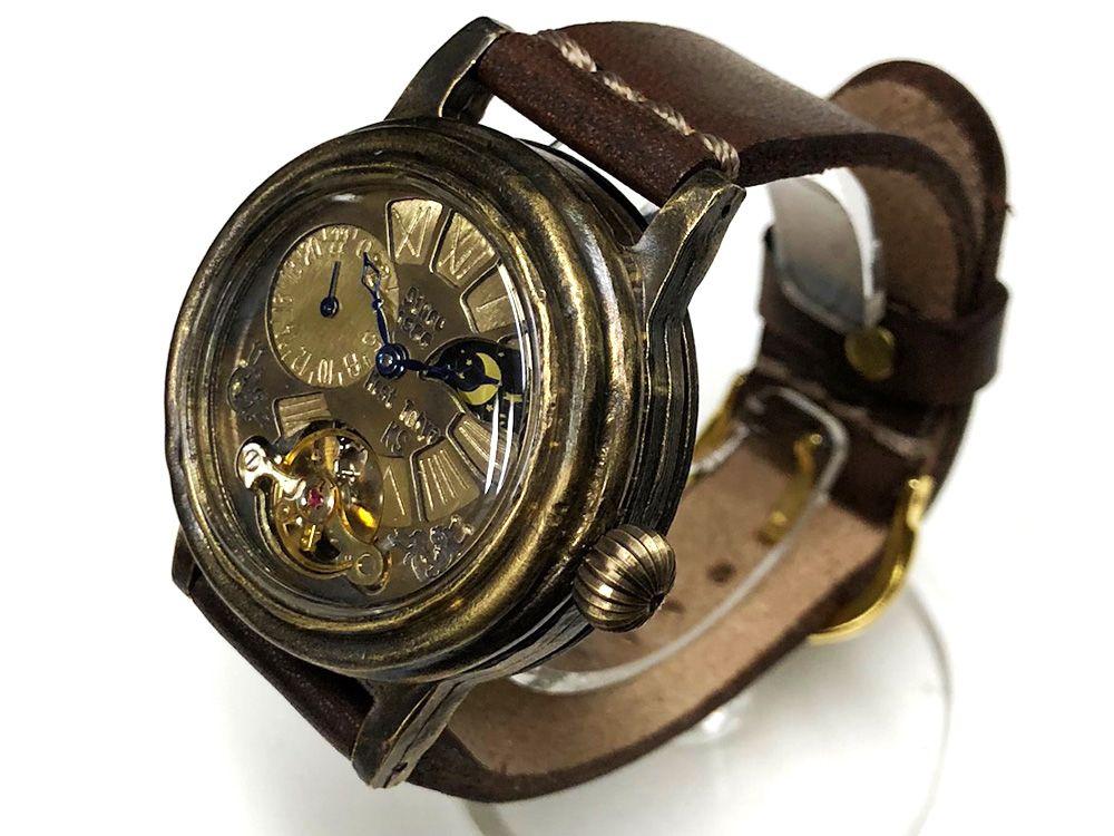 d91f60ac96 自動巻き腕時計 ヴィンテージ感漂うアンティークな手作り腕時計: 廃墟・SF・スチーム
