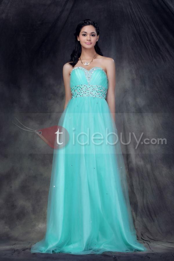 Glowing Princess Dress - Love the color, and would feel so special in this gown #prom #formal #homecoming #teal #mint
