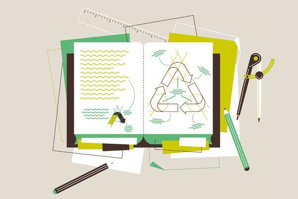 M Magazine, C'est une maison verte by LA TIGRE , via Behance