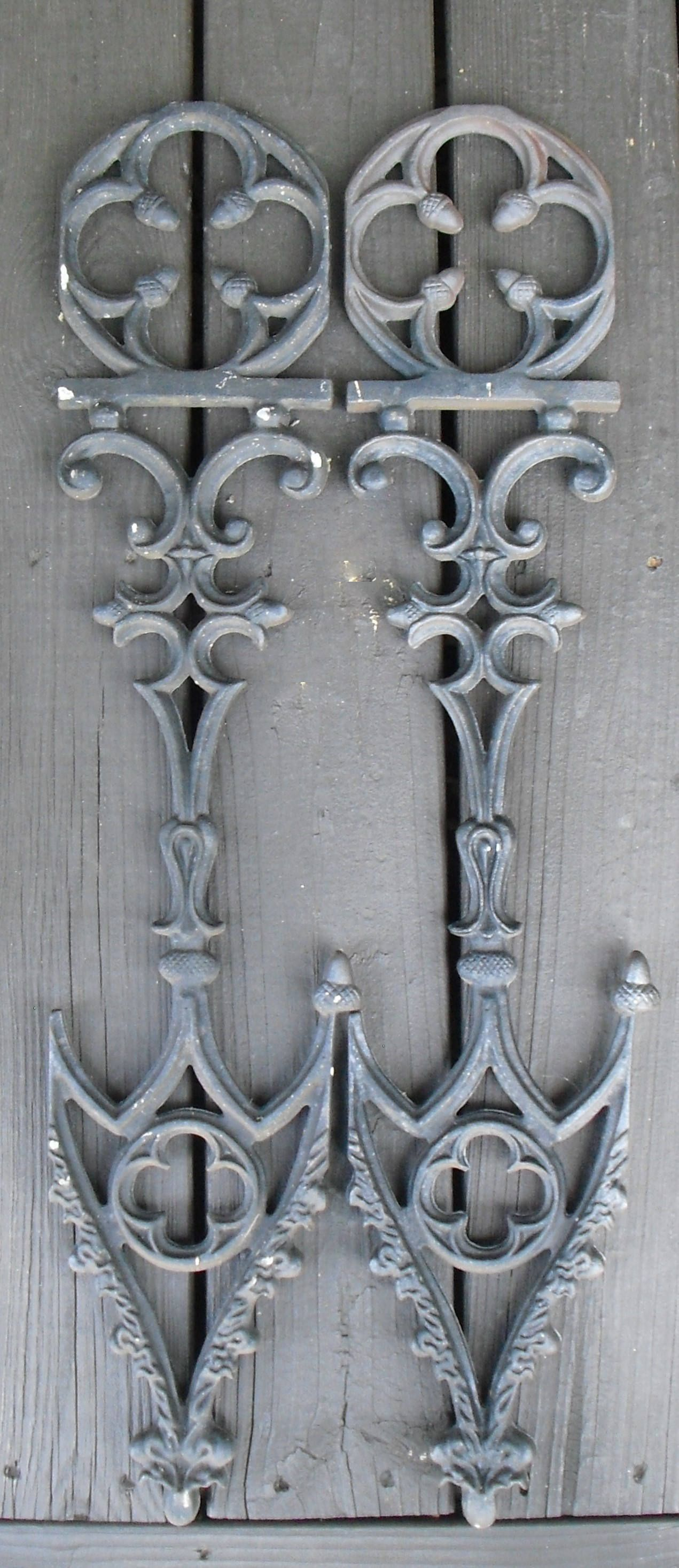Vintage Decorative Wrought Iron Pieces Cast Iron Celtic