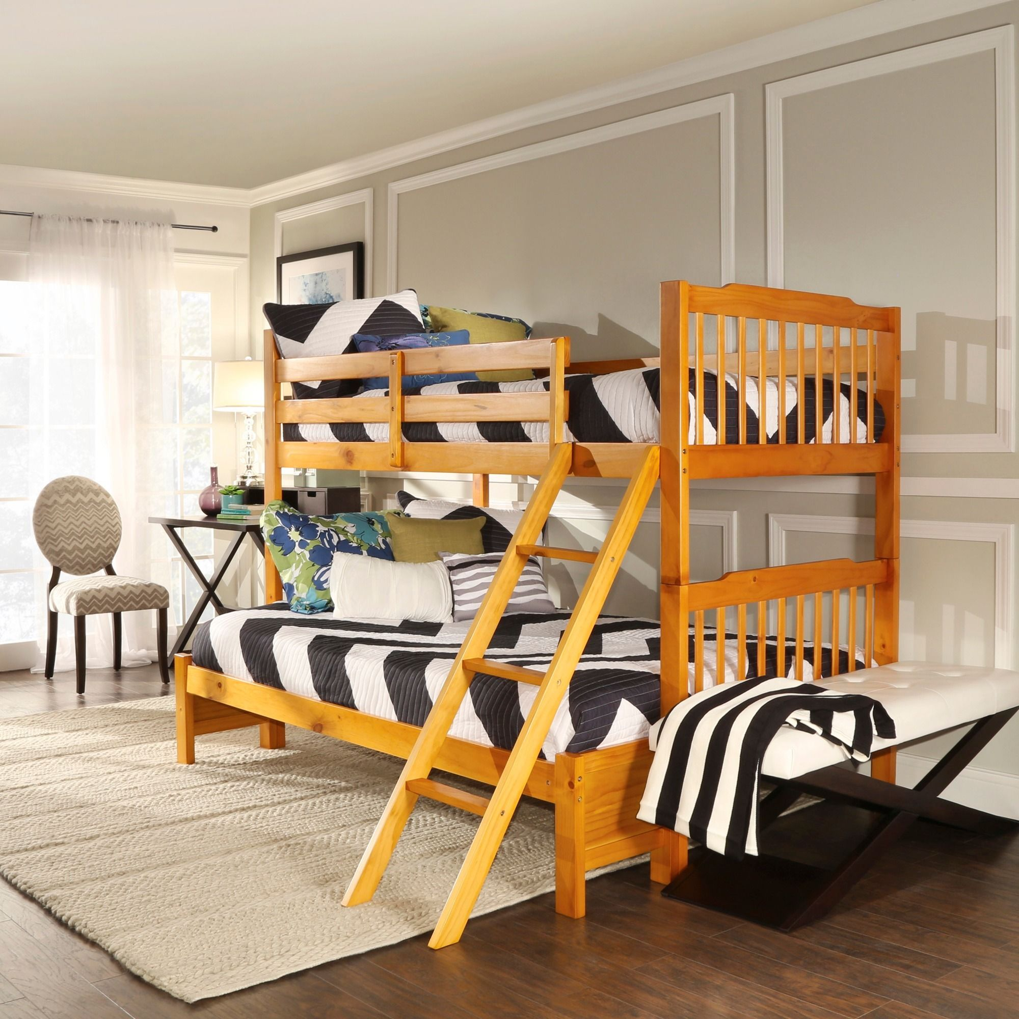 This Bunk Bed From Simone Features A Traditional Slat Design