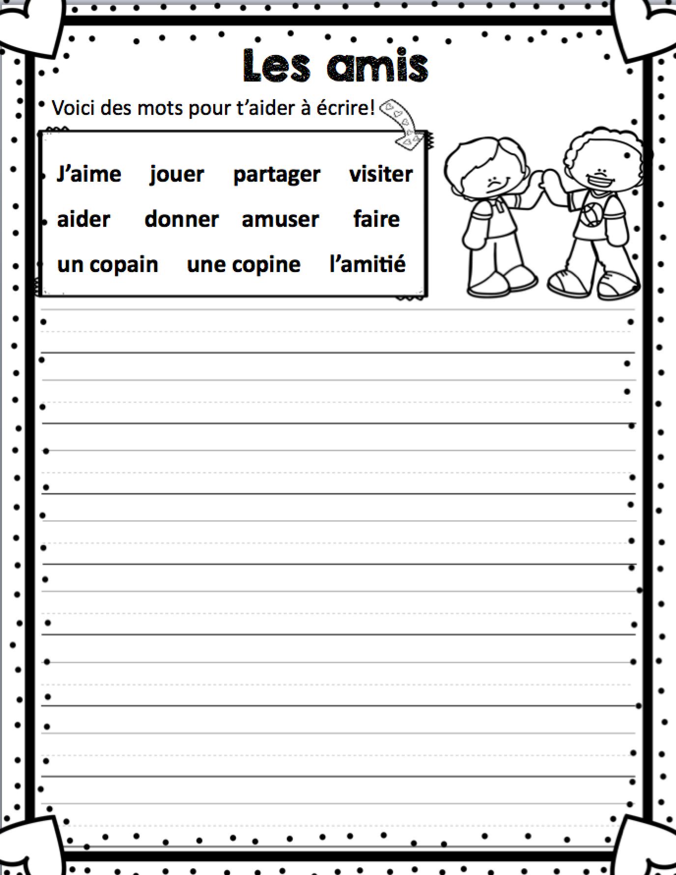 Comptine Et Activites Pour La Saint Valentin Et L Amitie French Valentine S Day