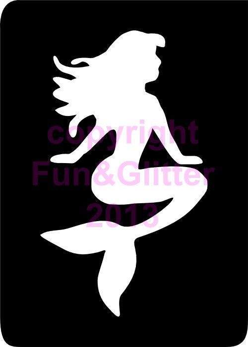 mermaid stencil template mermaid stencil related keywords