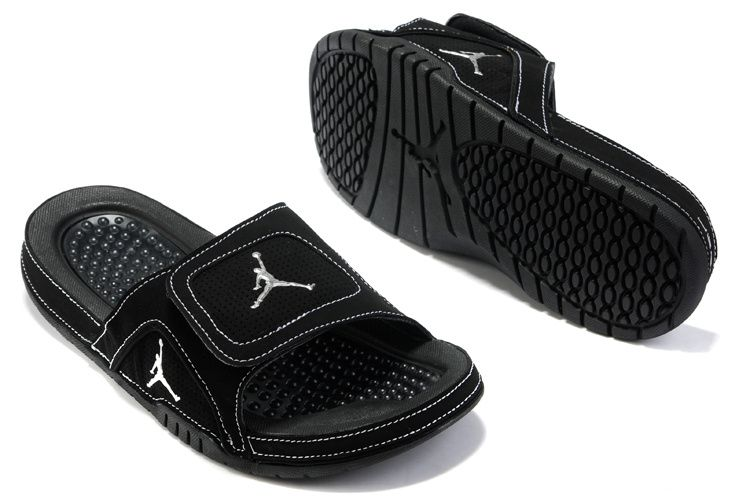 low priced cd771 eac55 Air Jordan 5 Sandals Black White | Pinterest | Air jordan ...