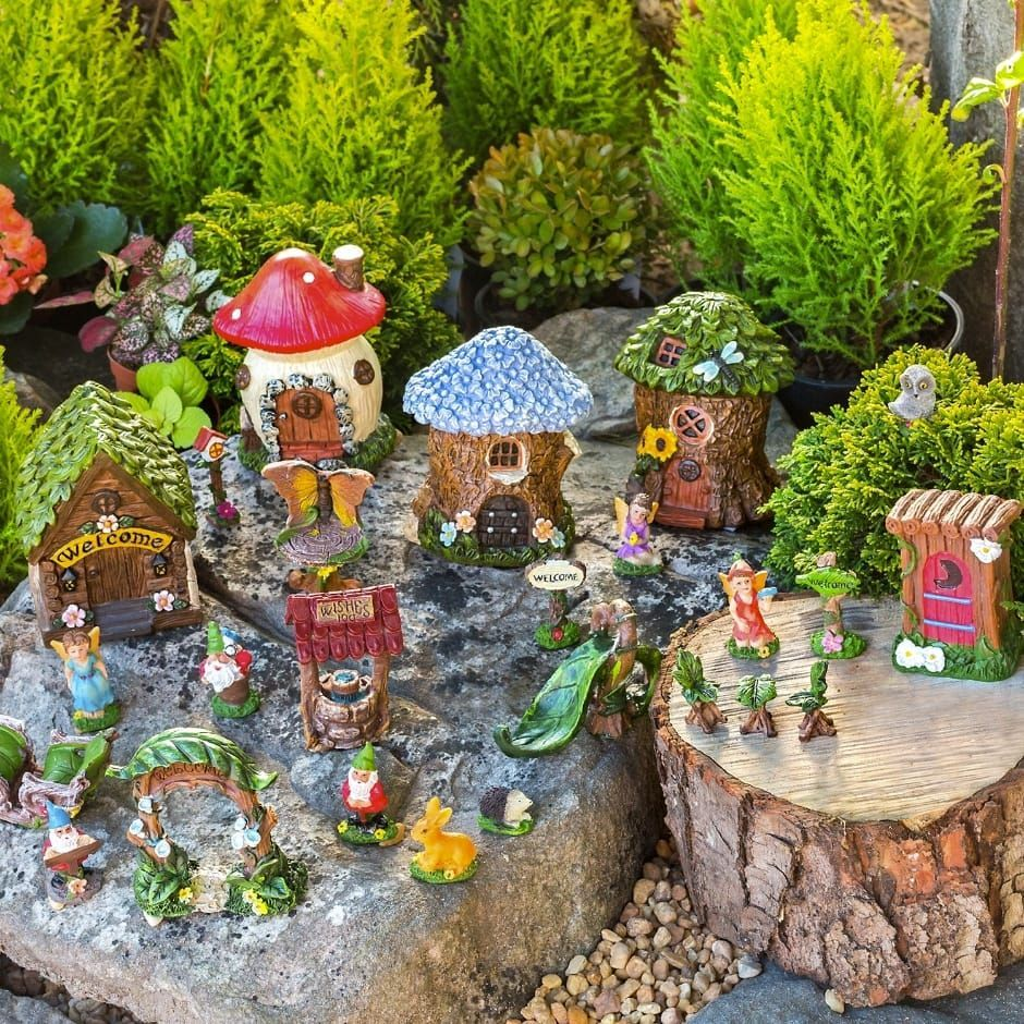 Mini Fairy Garden Trinket Sets Homedecor Decor Trendingnow Homeideas Fairy Garden Box Fairy Garden Decor Mini Fairy Garden