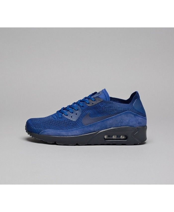 Ultra Chaussures Bleu Nike Max 2 Air 0 Flyknit 90 NoirShoes 7fgy6Ybv