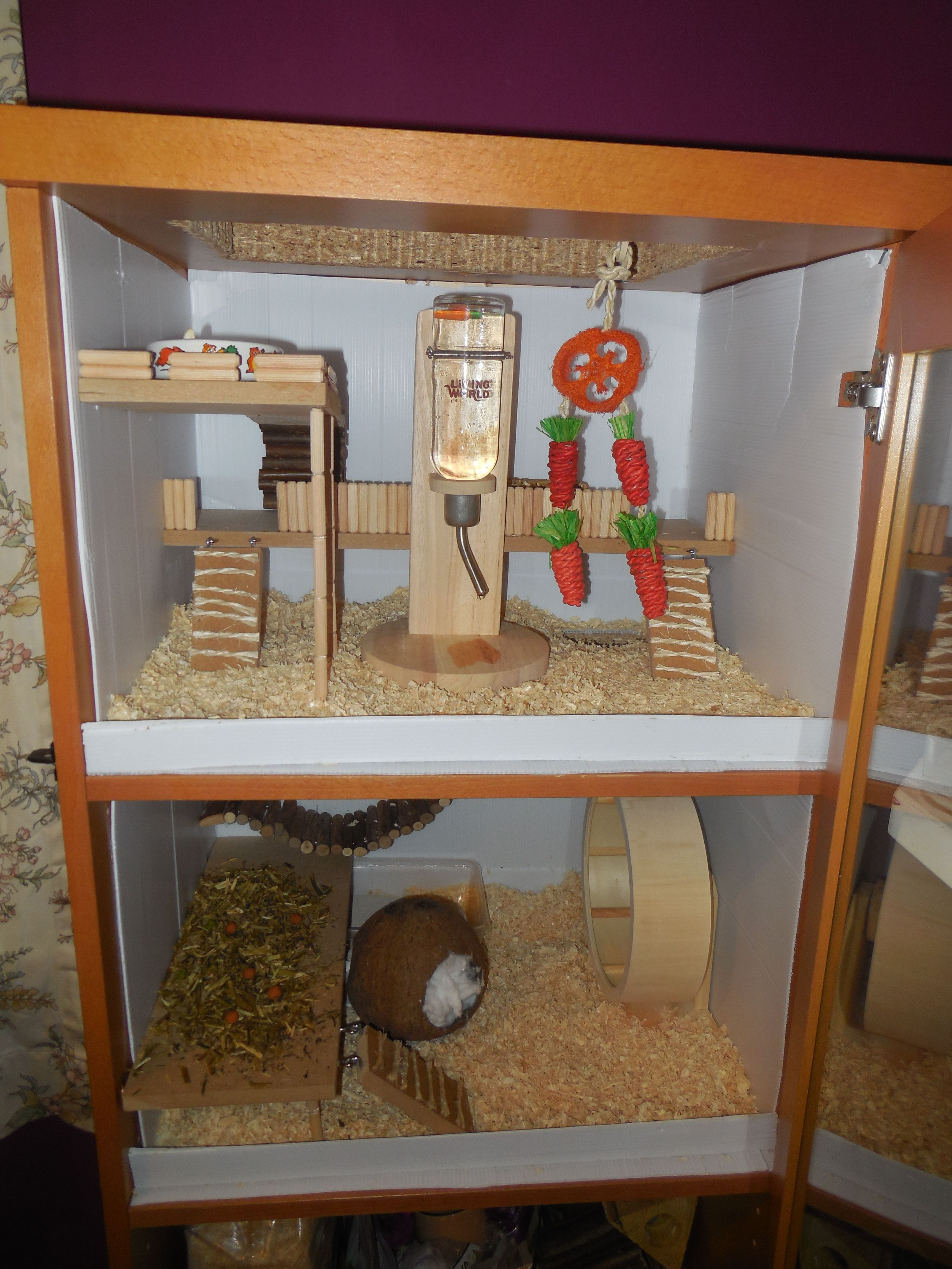 Diy Hamster Cage Made From An Old Cabinet Amazing Ideas