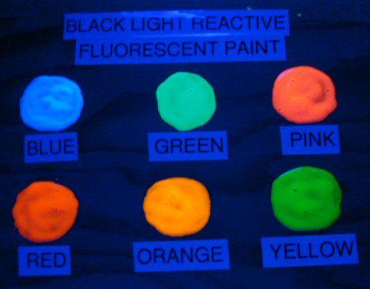 Uv Blacklight Fluorescent Paint Black Light Red Orange