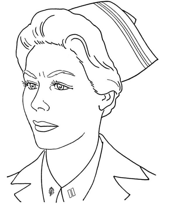 military nurse coloring pages