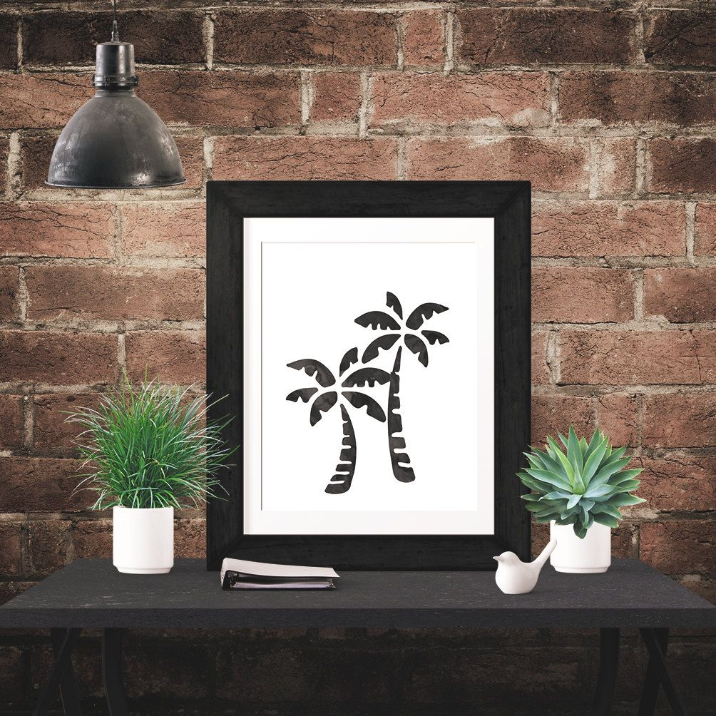 Really neat Black Beach Palm Trees Watercolor Poster -  Wall Art Poster - Printable Poster - Digital Download - 300 DPI - 8 x 10 inches - PDF & JPEG 5.00 USD from BrandiLeaDesigns poster download printable poster instant download digital poster printable wall art digital print typography poster watercolor poster digital print poster black and white wall gallery inspirational poster motivational poster http://ift.tt/1G3aHdm